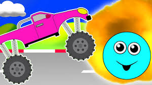 monster truck cartoon videos monster truck destroyer monster trucks for children learning