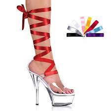 ribbon heels 15cm ultra high heels shoes ribbon platform sandals 6 inch