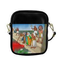 passover plagues bag passover the plague of blood sling bag model 1627 id d2155035