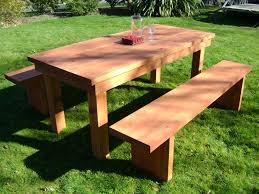 table outdoor furniture garden patio new thumbnail with wooden
