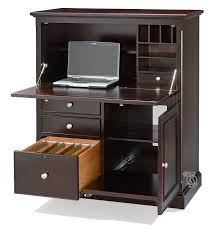 Computer Armoire Corner Metro Office Compact Computer Armoire Desk In Espresso Finish