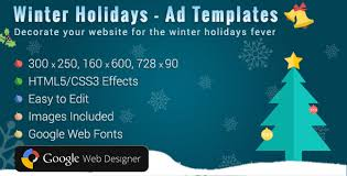 winter holidays html5 ads template by osdnetwork codecanyon