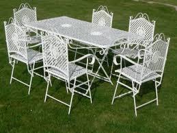White Wrought Iron Patio Furniture Sets - antique garden furniture antique furniture
