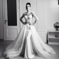 aliexpress com buy vintage lace detachable train mermaid wedding