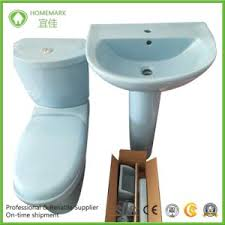 Pedestal Toilet China Blue Color Ceramic Twyford Toilet And Pedestal Basin China