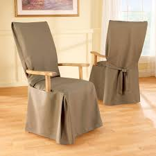 sure fit stretch leather dining room chair cover brown dining