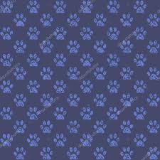Hintergrundmuster Blau Pfotenabdr禺cke Aussehende In Mitte Vor Dunkleren Blauen