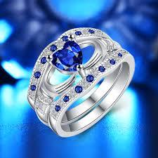 love promise rings images 3 piece set blue heart love promise ring for women get style jpg