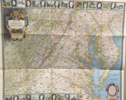 utsw cus map geographical map etsy