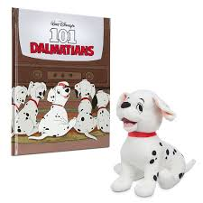 disney 101 dalmatians story book special edition rolly plush
