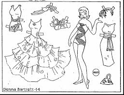outstanding paper doll coloring pages with doll coloring pages