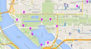 Washington Dc Hotel Map by Washington Dc Monuments And Memorials Map