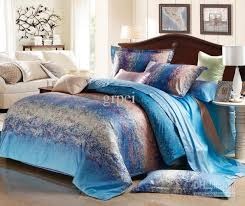 Linen Colored Bedding - blue grey stripe satin comforter bedding set king size queen