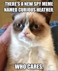 Spy Meme - a new spy meme named curious heather