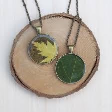 resin necklace pendants images Autumn leaf resin pendant diy resin crafts jpg