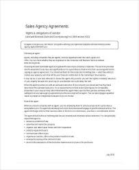 doc 600730 business agency agreement template u2013 sample business