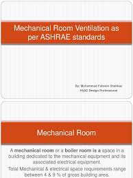 mechanical room ventilation presentation hvac ventilation