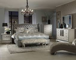 upholstered bedroom set michael amini hollywood swank metallic upholstered bedroom set