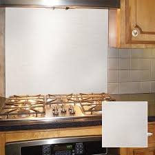 white kitchen cabinets with stainless steel backsplash 30 in x 30 in polished stainless steel backsplash