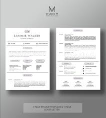 cover letter templates 2 modern resume template 2 page resume 1 page cover letter