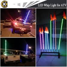led light whip for atv high quality led sand dunes buggy flag light dc 12v led pole lights