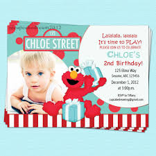 Birthday Invitation Card For 1st Birthday Elmo 1st Birthday Invitations Cloveranddot Com