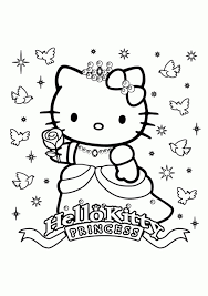 princess kitty free girls coloring printable coloring