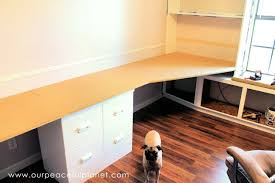 Building A Simple Wooden Desk by How To Build A Simple Large Surface Home Office Desk