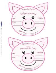 printable pig invitations