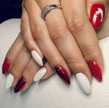 67 best red nail art design ideas 29 red finger nail art designs