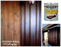 how to stain old wood paneling without sanding could come in
