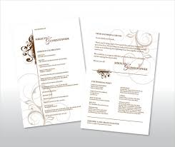 simple wedding program 21 wedding program templates free sle exle format