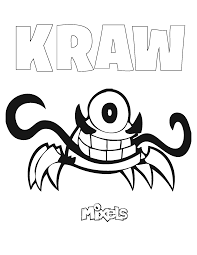 mixels coloring page u2013 kraw eric u0027s activity pages