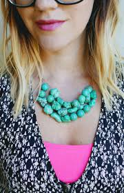 how to make a simple beaded necklace craft pinterest
