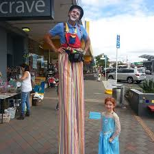 clown stilts cherry the clown clown or stilt walker auckland pme