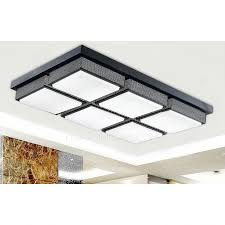 Kitchen Ceiling Light Fixture Affordable Rectangular Acrylic Shade 28 7 Inch Led Kitchen