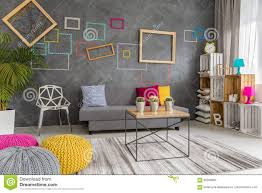 Gray And Yellow Living Room by Grey Yellow And Pink Living Room Stock Photo Image 82939893