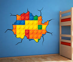 Decoration Kids Wall Decals Home by Lego Wallpaper Sticker Vynil Great Design At Bouf Com Home