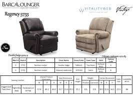 Lounge Chair Dimensions Barcalounger Regency Ii Leather Recliner Chair Leather Recliner