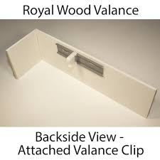 Wood Blind Valance Clips Royal Wood Blind Valance Made To Order From 8 94 Inches