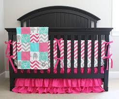 Teal Crib Bedding Sets Pink Elephant Baby Bedding For Baby Girl U2014 Suntzu King Bed