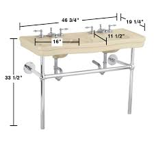 double console sink with metal legs metal console sink