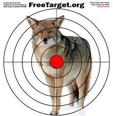 coyote red dot bulls eye freetarget org free printable targets