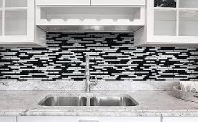 black backsplash in kitchen black gray and white backsplash tile backsplash