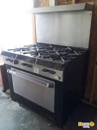 garland gv286 commercial gas range and oven used commercial oven