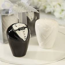 wedding salt and pepper shakers wedding bridal shower ceramic kitchen tools classic theme 2 8 3 5