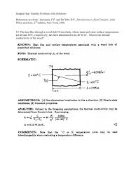 sample heat transfer problems with solutions heat transfer heat