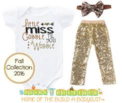 baby toddler thanksgiving fall gobble sequins noah s