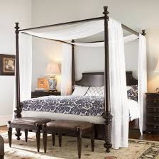 inspiration bedroom charming canopy bed curtains on four wooden