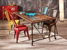 Esszimmerstuhl Rot 4 X Stuhl Metallstuhl Aix Rot Unique Industrial Vintage Look